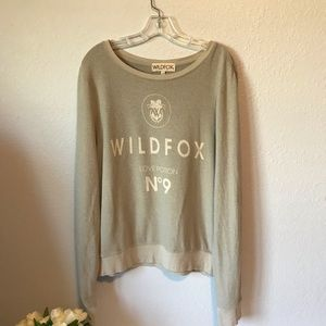 Wildfox Love Potion light sweatshirt.